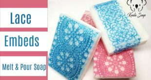 melt and pour lace embed soap